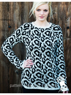 Sweater med leopardmønster
