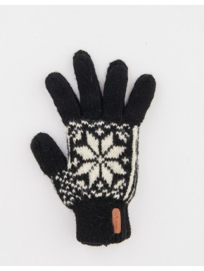 Black gloves with a star pattern