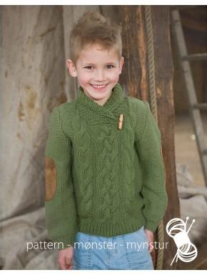 Sweater med sjalskrave