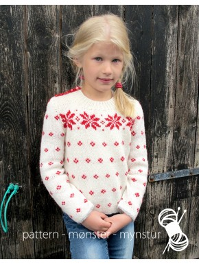 Girl's Sweater with Red Stars