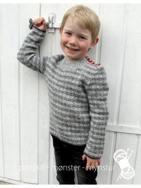 Drengetrøje med striber