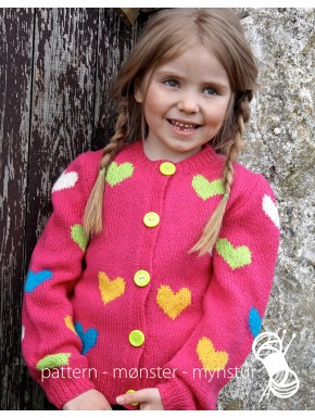 Girl's Cardigan with Hearts