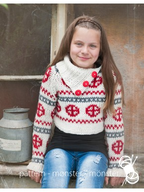 Kort pigesweater