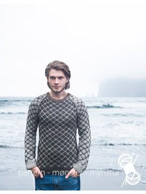 Mønstret sweater til mænd