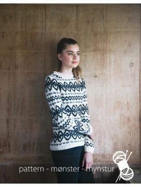 Dametrøje med mønster