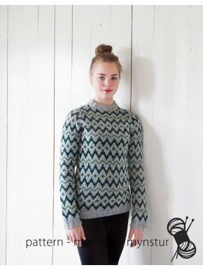 Gennemmønstret trøje
