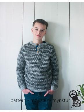 Mønstret trøje