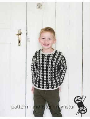 Gennemmønstret trøje til børn