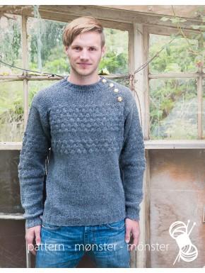 Herresweater med sømandsmønster