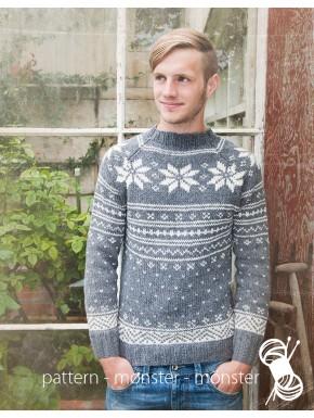 Herresweater med stjerner