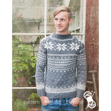 Men´s Sweater With Star Pattern
