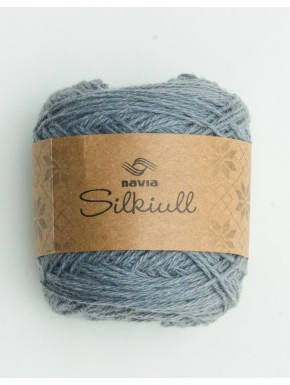 Silk wool medium grey