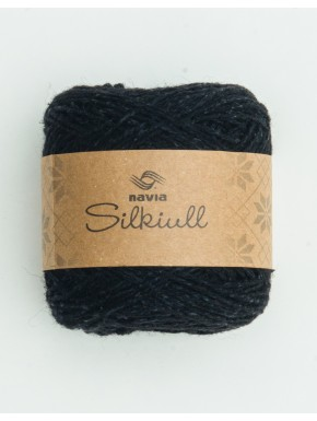 Silk Wool Black