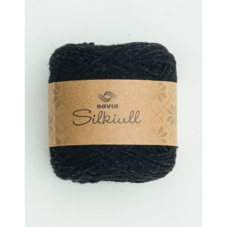 silk wool black