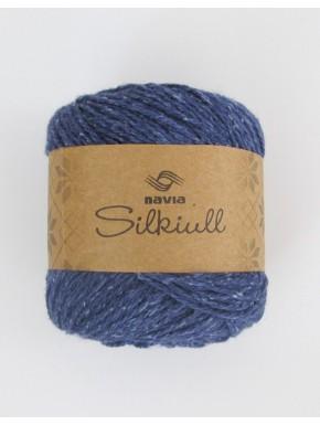Silkeuld Indigo blå
