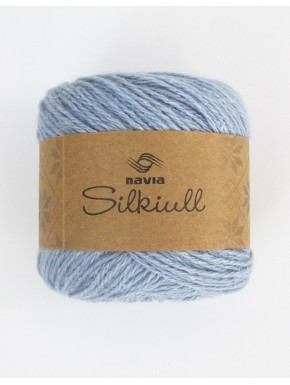 silk wool dusky blue