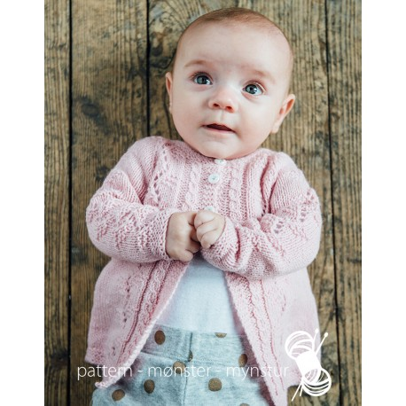 Lyserød baby cardigan