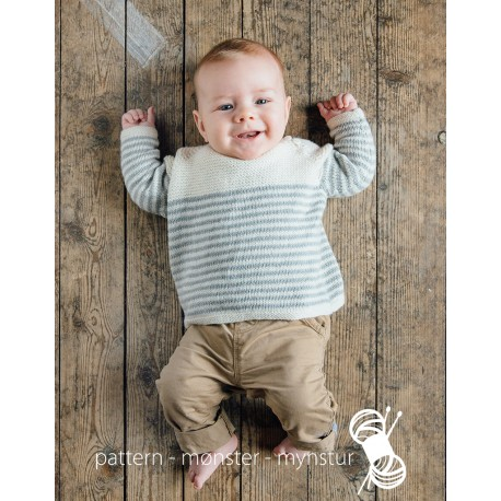 Baby sweater with stripes