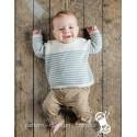 Stribet babytrøje