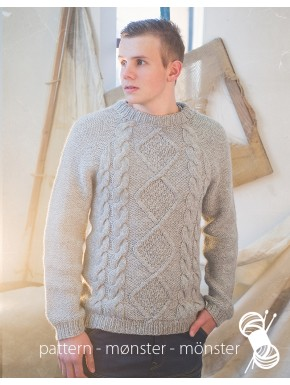 Men's Sweater With Aran