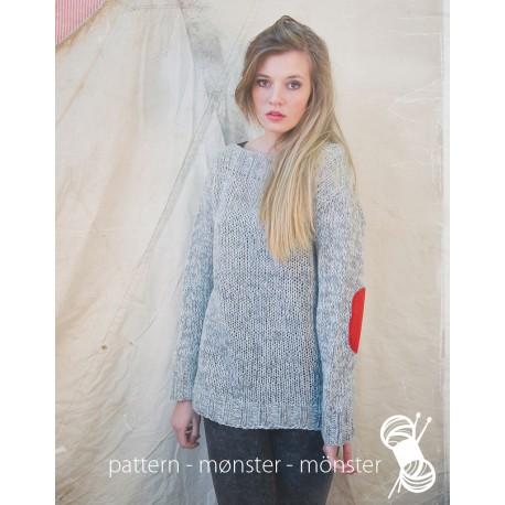 Grå meleret sweater