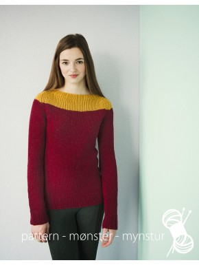 Jumper in Burgundy and Curry
