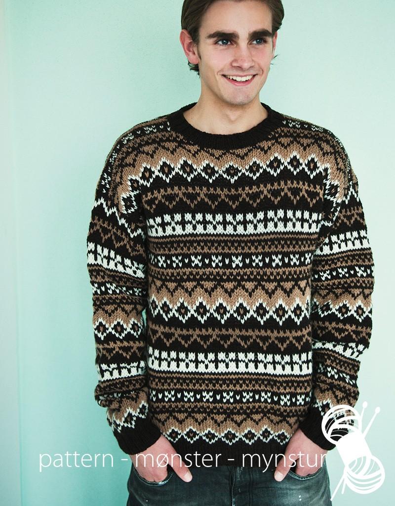 Men´s patterned jumper - Navia