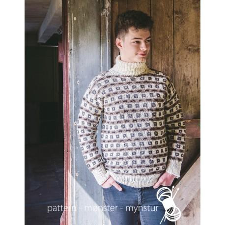 Mønstret trøje til herrer