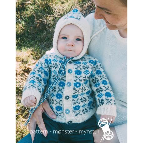 Babyjakke med færøsk mønster