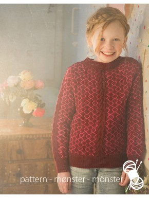 Girl's Sweater With Pattern and Aran