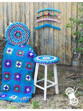 Crochet Cover for Stools, Blanket and Hanger