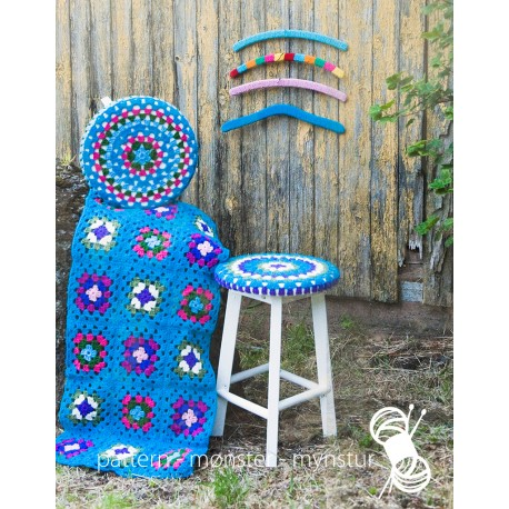 Crochet Cover for Stools, Blanket and Hanger