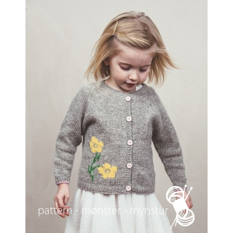 Cardigan with a flower