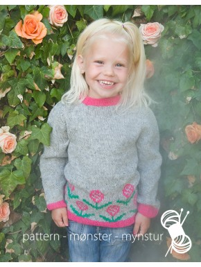 Girls Sweater With Flowers