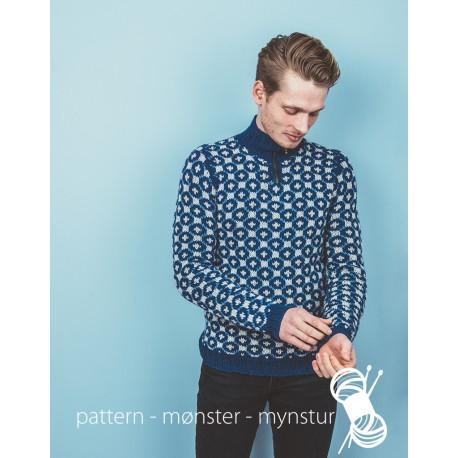 Helmønstret trøje med lynlås