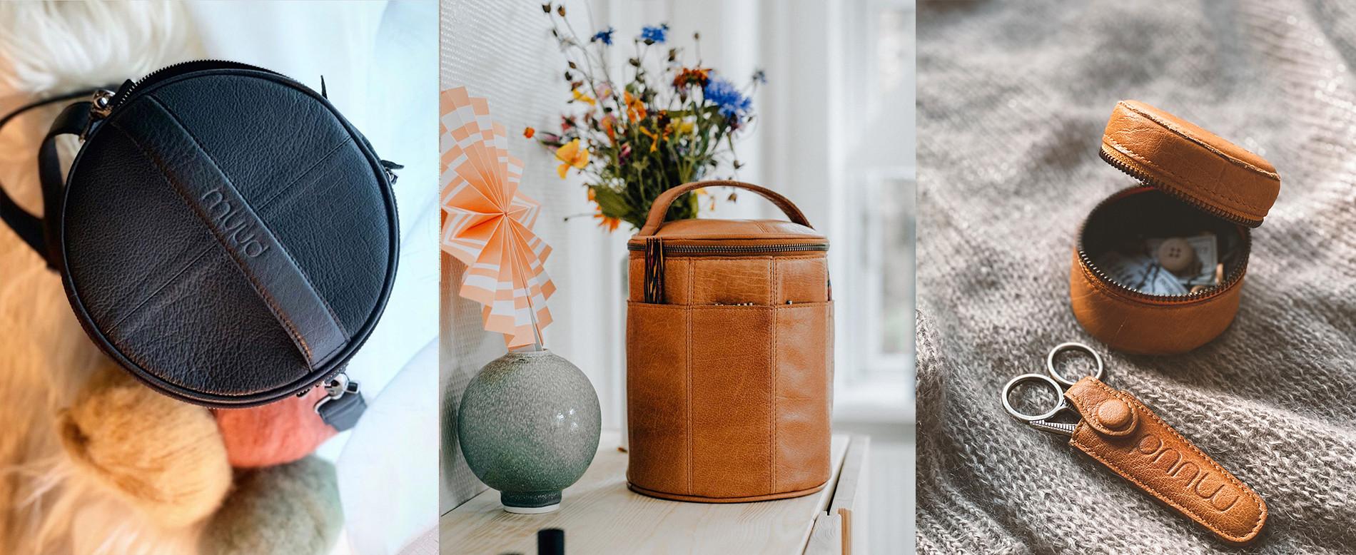 100% læder tasker og tilbehør